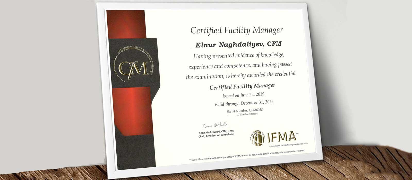 FMG-nin əməkdaşı beynəlxalq sertifikata layiq görülüb